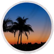 Sanibel Island Florida Sunset Round Beach Towel