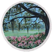 Savannah Spring Round Beach Towel