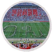 27w115 Script Ohio In Osu Stadium Round Beach Towel