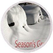 Season's Greetings Round Beach Towel by Stuart Litoff