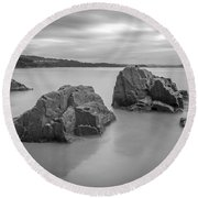 Round Beach Towel featuring the photograph Seselle Beach Galicia Spain by Pablo Avanzini