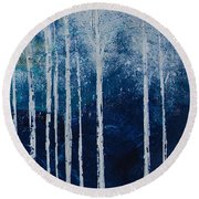 Shivver Round Beach Towel by Linda Bailey