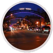 D8l353 Short North Arts District In Columbus Ohio Photo Round Beach Towel