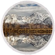 Sierra Reflections Round Beach Towel