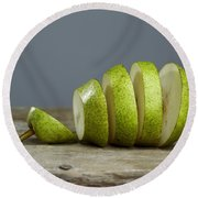 Sliced Round Beach Towel by Nailia Schwarz