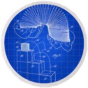 Slinky Patent 1946 - Blue Round Beach Towel by Stephen Younts