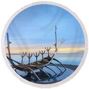 Solfar Sun Voyager Round Beach Towel by Alexey Stiop