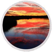South Ponte Vedra Coast Round Beach Towel