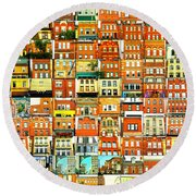 Southside Pittsburgh Round Beach Towel