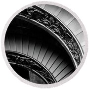 Spiral Staircase, Vatican Museum, Rome Round Beach Towel