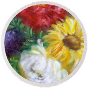 Spring Surprise Round Beach Towel