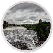 St Anthony Falls Round Beach Towel