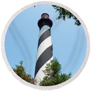 St. Augustine Lighthouse Round Beach Towel