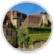 Round Beach Towel featuring the photograph St Cyprien En Perigord by Dany Lison