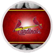 St Louis Cardinals Round Beach Towel