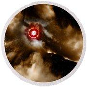 Star Dust Of Supernova Round Beach Towel