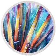 Spine Of Urchin Round Beach Towel