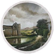 Stokesay Castle Round Beach Towel
