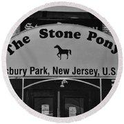 Stone Pony Round Beach Towel by Paul Ward