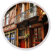 Street In Rennes Round Beach Towel