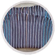Striped Scarf Round Beach Towel