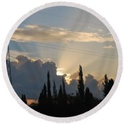 Sunrise Round Beach Towel by George Katechis