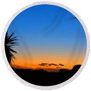 Sunset In The Desert Round Beach Towel