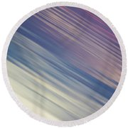Round Beach Towel featuring the photograph Sunset On River by Davorin Mance