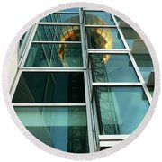 Sunsphere Reflections Round Beach Towel