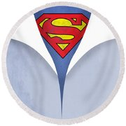 Superman 9 Round Beach Towel