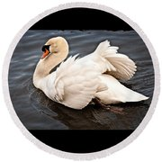 Swan One Round Beach Towel