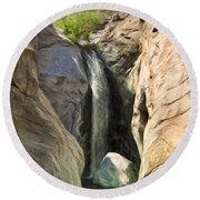 Tahquitz Falls Round Beach Towel