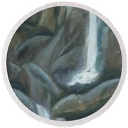 Tears Of The Moon Round Beach Towel