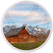 Teton Barn Round Beach Towel