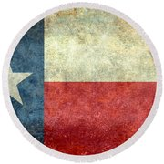 Texas The Lone Star State Round Beach Towel