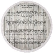 The Four Agreements Round Beach Towel