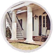The Front Porch Round Beach Towel