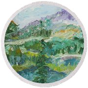 The Great Land Round Beach Towel