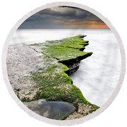 The Green Path Round Beach Towel