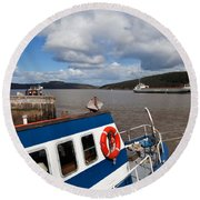 The Harbour And Fishing Boats, Passage Round Beach Towel