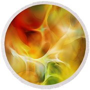 Round Beach Towel featuring the digital art The Heart Of The Matter by David Lane