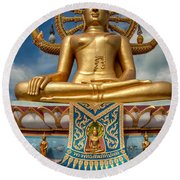 The Lord Buddha Round Beach Towel