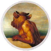 The Minotaur Round Beach Towel