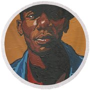 The Most Beautiful Boogie Man Round Beach Towel
