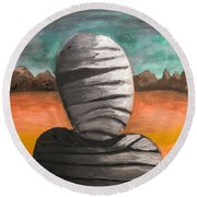The Mummy And The Curse Of Eternity Round Beach Towel