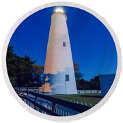 The Ocracoke Lighthouse On Ocracoke Island On The North Carolina Round Beach Towel