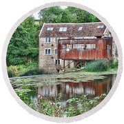 The Old Mill Avoncliff Round Beach Towel