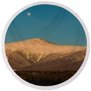 The Presidential Range White Mountains New Hampshire Round Beach Towel