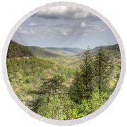 The Valley II Round Beach Towel