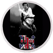 The Who Round Beach Towel by Doc Braham